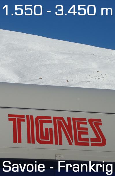 Tignes, Val d'Isére Frankrig
